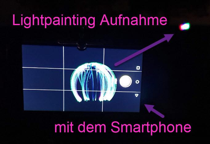 Lightpainting Aufnahme mit Smartphone