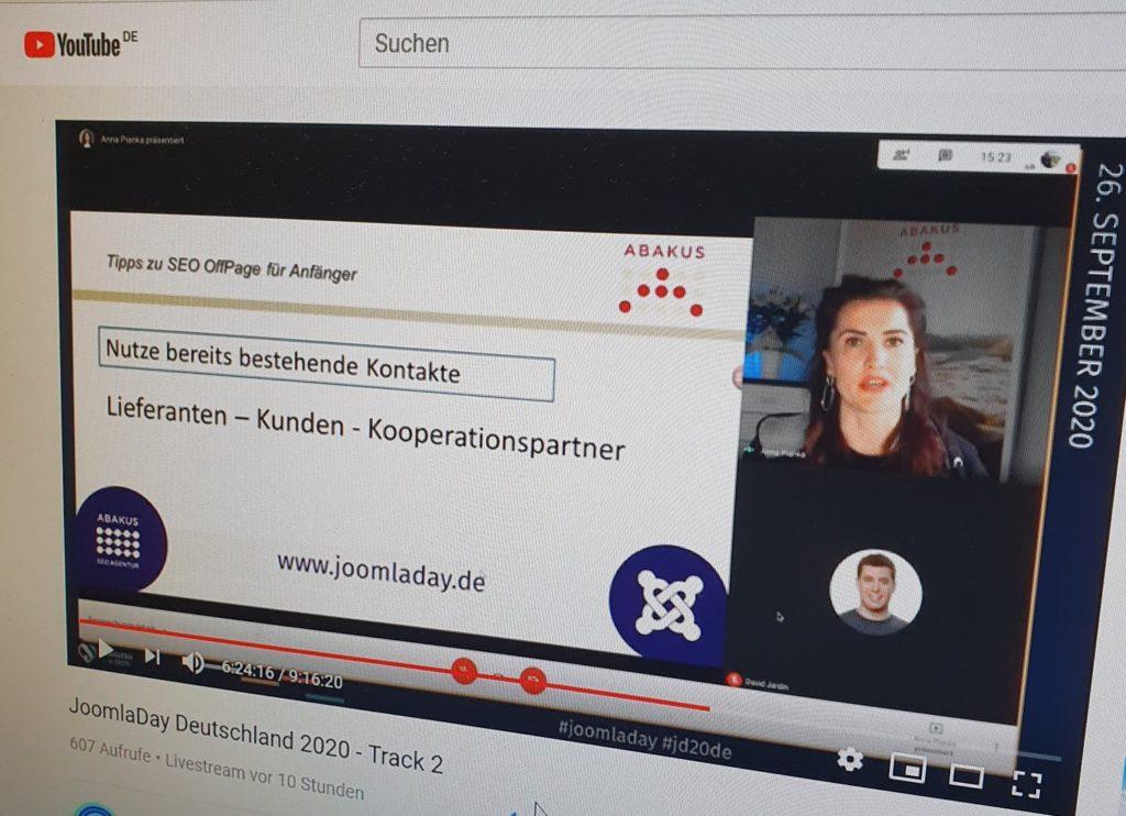 JoomlaDay Deutschand Vortrag von Anna Pianka Screenshot