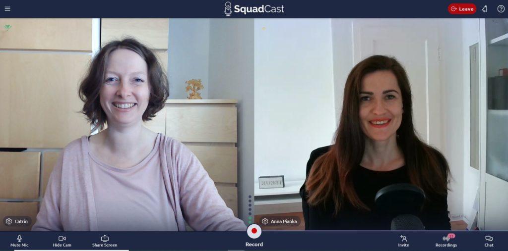 Podcasterin Catrin Grobbin und SEO Experte Anna Pianka im Interview